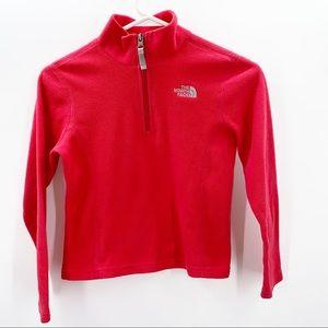 The North Face Hot Pink Girl's Fleece ZipUp Jacket